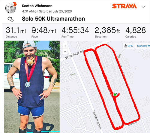 Scotch Wichmann 50K ultramarathon results