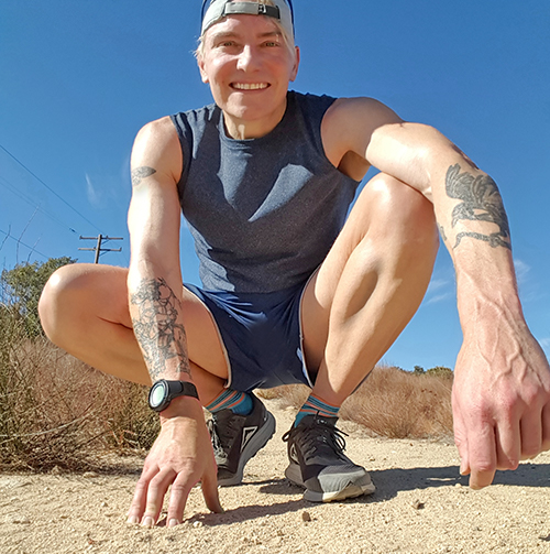 Scotch Wichmann running in Verdugo Mountains near Burbank
