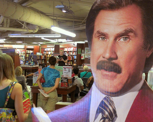 Even Ron Burgundy loves the comedy novel Two Performance Artists!