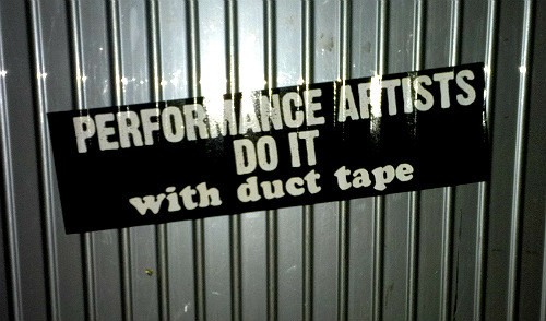 Two Performance Artists Do It With Duct Tape