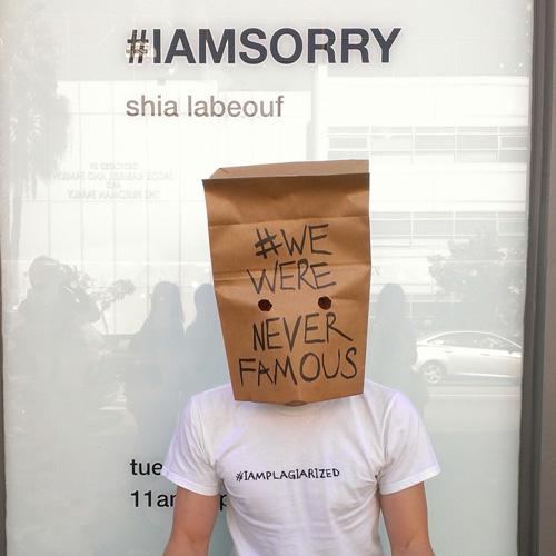 Scotch Wichmann protesting Shia LaBeouf